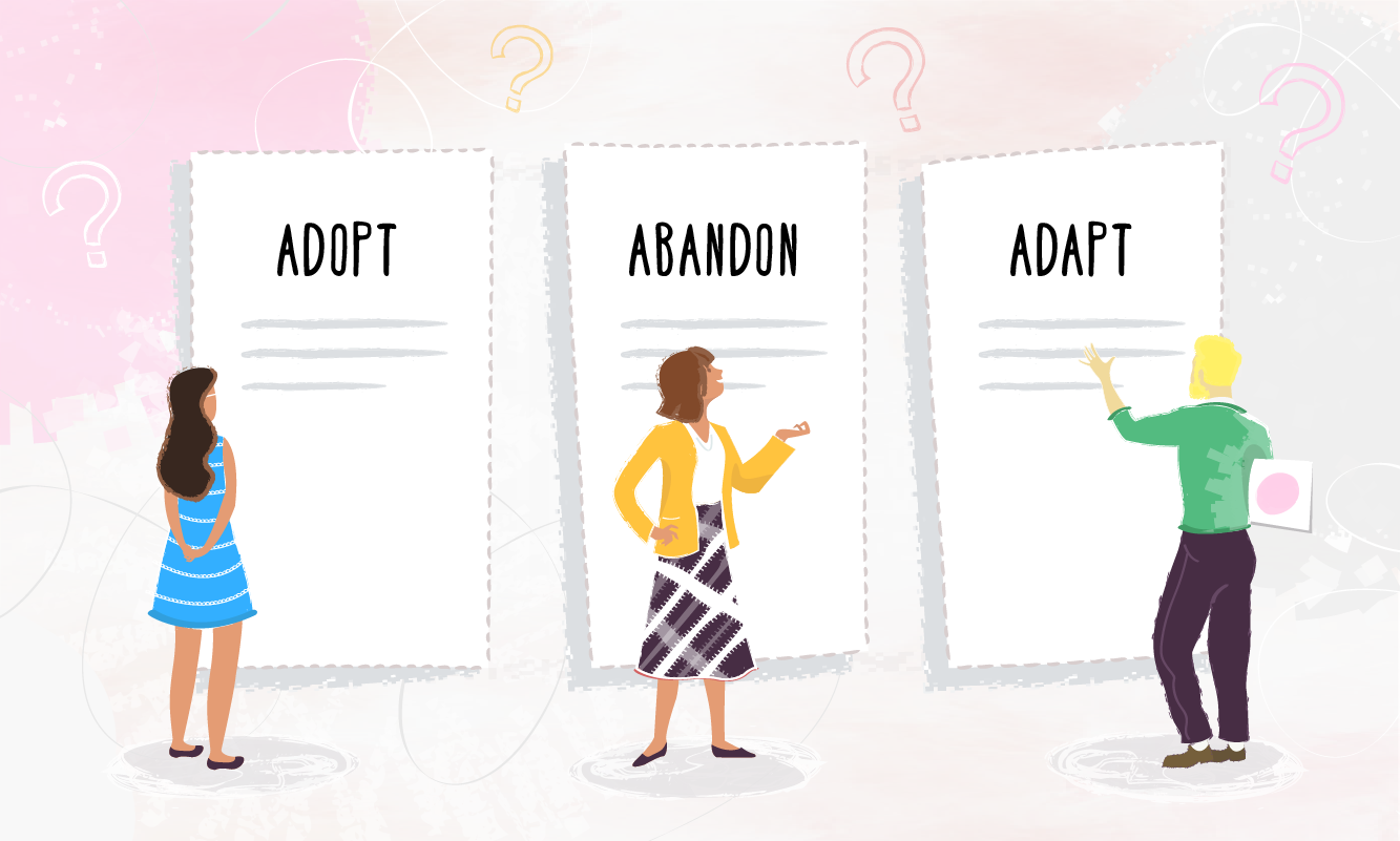 PDSAs - How to decide whether to adopt, adapt or abandon