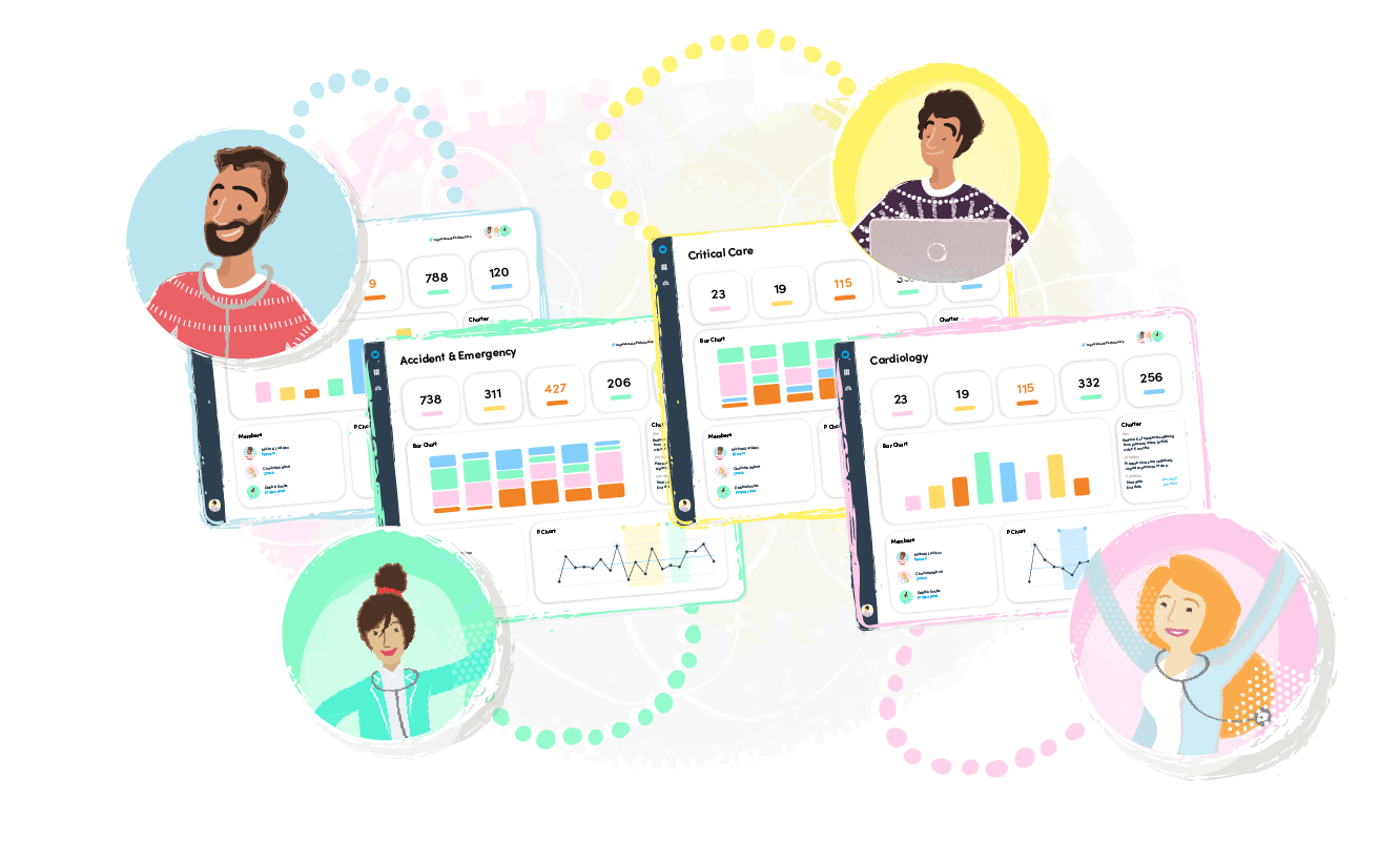 Encouraging local ownership using analytics dashboards